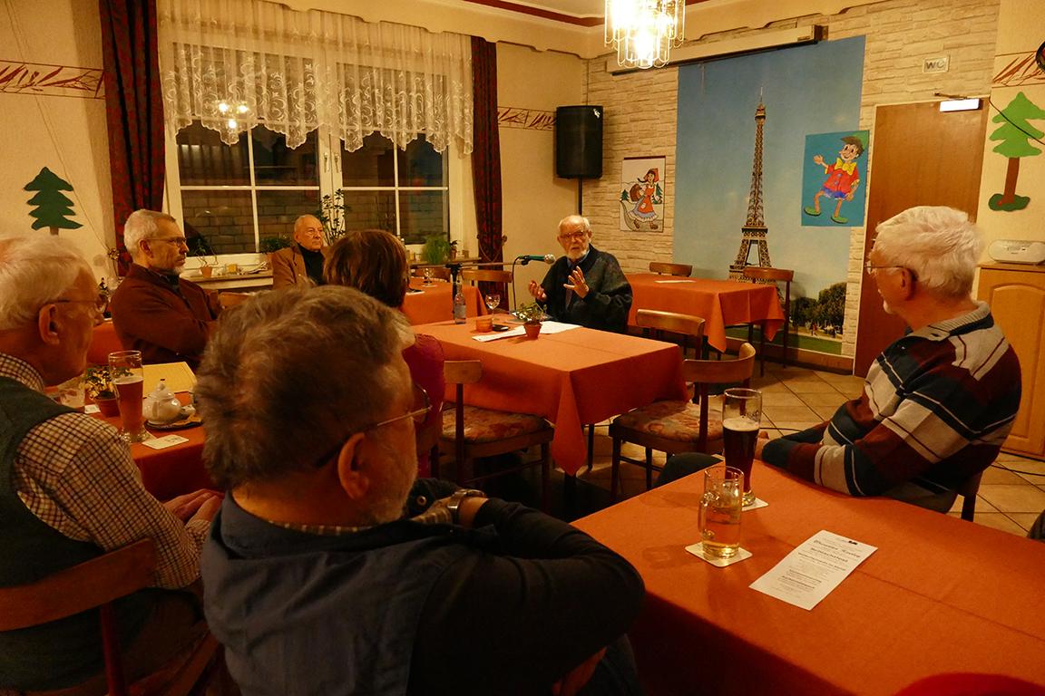 Zeitzeuge zu Gast beim Kameradschaftsabend der KERH im Kreis Ahrweiler